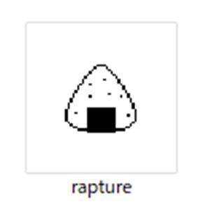 raptureのアイコンのおにぎりマーク