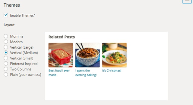 【プラグイン】WordPress Related PostsのAdvanced settingsの設定画面