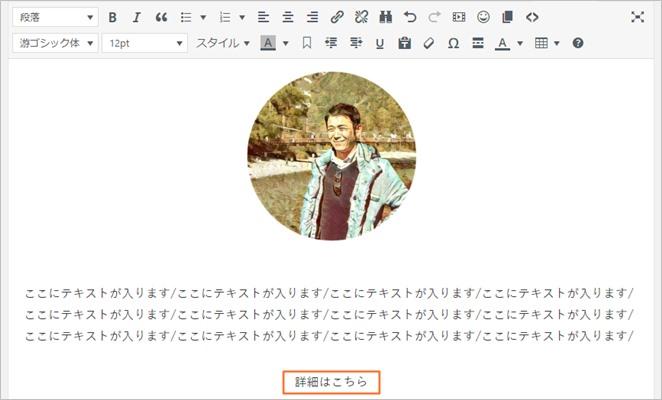 WordPress新規投稿画面でのリンク作成画面