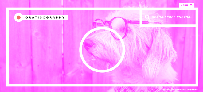 GRATISOGRAPHYのトップ画面